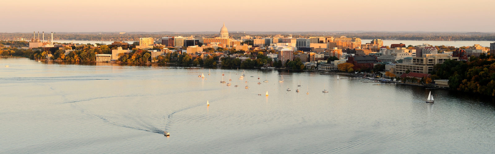 View of Madison from the air